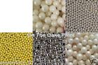 SUGAR BALLS 6mm 8mm 10mm edible decorations cupcake sprinkles Pearls dragees 50g
