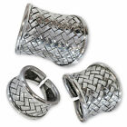 Karen Hill Tribe 925 Silver Ring antique used braided thai ethno women jewelry
