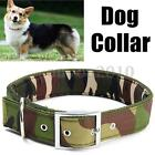 S / M / L Adjustable Camouflage Camo Canvas Pet Dog Collar Safety Necklace Chain
