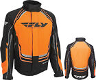 Fly Racing YOUTH Snowmobile SNX Pro Jacket / Black/Orange - All Sizes