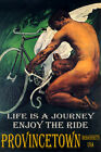 PROVINCETOWN MA CYCLING BICYCLE WINGS ENJOY BIKE RIDE LGBT VINTAGE POSTER REPRO