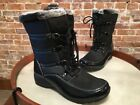 Weatherproof Janice BLACK Lace-up Water Resistant Boots NEW