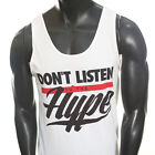 DONT LISTEN TO THE HYPE FUNNY PARTY JAY Z KANYE WEST RED TANK TOP HIP HOP M