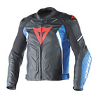 Dainese Avro D1 Leather Black Blue White Motorcycle Jacket NEW RRP£449.95