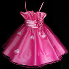 Girl Pink Christening Christmas Wedding Flower Girls Dresses SIZE 2-3-4-5-6-7-8Y