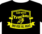 Trucker T Shirt up to 5XL, drive all night, scania, artic, gift