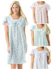 Casual Nights Women's Cotton Blend Short Sleeves Floral Nightgown