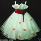 Reds Whites Christmas Wedding Flower Girls Dresses SIZE 1-2-3-4-5-6-7-8-10-12Y
