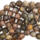 "Faceted Multicolor Sunstone Round Beads 15"" Strand 4mm 6mm 8mm 10mm 12mm"