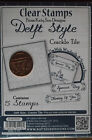Katy Sue - Delft Style - CRACKLE TILE CLEAR STAMPS (5 Stamp Set) - 0510070DS3