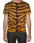 Tiger Skin Pattern All Over Print 3D Men's T-Shirt - Small to 3XL