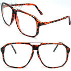 New Large Oversized Retro Vintage Clear Lens Glasses Frame Fashion Nerd Geek 80s