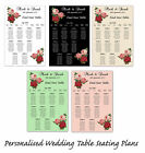 Personalised Wedding Table Seating Plan Floral/Bouquet Canvas or Poster A1/A2/A3