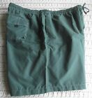 NWT Mens BIG Board Shorts Swim Trunks Solid Green KING SIZE Lined Pockets