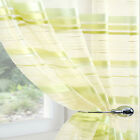 LIME GREEN CREAM ORGANZA Voile Net Sheer Curtain Panel All Sizes inc Extra Long