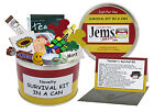 TEACHER SURVIVAL KIT IN A CAN. School Teaching Assistant Thank You Gift & Card