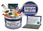 GOOD LUCK SURVIVAL KIT IN A CAN. Novelty Leaving/Moving Gift. Fun Present & Card