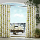 Modern Floral Curtains LIME GREEN GREY CREAM Eyelet  100% Cotton Eyelet Patio