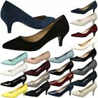 WOMENS COURT SHOES LADIES LOW HEEL POINTED TOE WORK OFFICE SMART CASUAL SIZE NEW