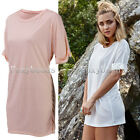 Rare Womens Summer Loose Long T-shirt Short Sleeve Casual Tops Blouse Beach Tee