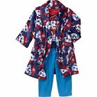 Nickelodeon Paw Patrol 3 PC Bathrobe Bath Robe Pajama Set Boy Size 5T
