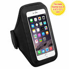 Black Sports Gym Running Jogging Walking Armband Cover Case Phone Holder Strap