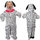 CHILDS DALMATIAN DOG COSTUME JUMPSUIT BOOK DAY FILM CHARACTER ANIMAL FANCY DRESS