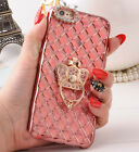 Luxury Electroplate Bling Diamond Case Cover with Ring Holder For Cell Phones