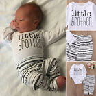 US Newborn Toddler Infant Baby Boy Girl Clothes T-shirt Tops+Pants Outfits Set