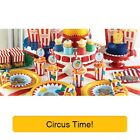 CIRCUS TIME! - Birthday Party Range - Clowns Tableware Balloons & Decorations