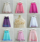 Coral fuchsia purple mint green white beige summer party  flower girl dress