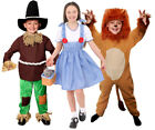 SCHOOL BOOK / FILM CHARACTER KANSAS KIDS DOROTHY SCARECROW + LION COSTUME