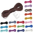 20M Waxed Cotton Cord String Thread DIY Necklace Beading Jewellery Making 1mm