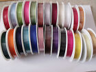 GORGEOUSLY GROOVY Grosgrain Ribbon - 10 16 22 & 38mm  - 25 Colours & 3 lengths