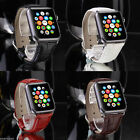 Genuine Leather Wrist Strap Band Watch Buckle Adaptor for Apple iWatch 42mm
