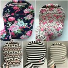 Premium Multi-Use Car Seat Canopy Nursing cover blanket + Beanie Carrying Case!