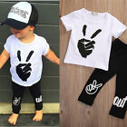 Toddler Kids Baby Boys Outfits Clothes T-shirt Tops+Long Pants 2PCS Sets US