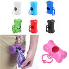 Pet Waste Bone Bag Holder Plastic Dog Poo Bag Dispenser Walking Carrying 7 Color