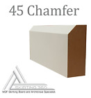 MDF ARCHITRAVE, PATTERN 45/CHAMFER, 2400mm x 70mm x 18mm, From £1.25 per metre