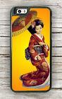 JAPANESE GEISHA TRADITIONAL UMBRELLA CASE FOR iPHONE 7 or 7 PLUS -dfg5Z