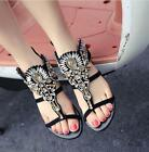 2017 New Woman Casual Shoes Rhinestone Flats Crystal Gladiator Sandals