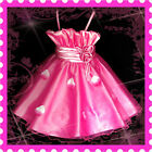 Easter Kids Girl Pink Wedding Party Flower Girls Dresses AGE SIZE 2-3-4-5-6-7-8Y