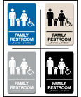 blue color schemes for kitchens - ADA Approved Braille FAMILY WHEELCHAIR Restroom Sign 6