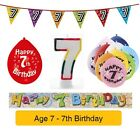 AGE 7 - Happy 7th Birthday Party Balloons, Banners & Decorations