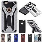 Rubber Hybrid Stand PC+TPU Shockproof Rugged Back Case Cover For iPhone 7/7 Plus