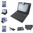 """7-7.9""""Universal 2in 1 Removable Bluetooth Keyboard PU Butterfly Case for Tablets"""