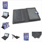 """7-7.9""""Universal 2in 1 Removable Bluetooth Keyboard PU Leather Case for Tablets"""