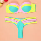 Women Lady Swimwear Bandage Bikini Set Push-up Padded Bra Bathing Suit Swimsuit