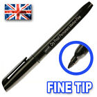 Permanent Marker Pens Thin Slim Fine Tip - Garden Plant Label Golf Balls BLACK