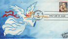 MARY K FISHER 1990 CHRISTMAS ANGEL HAND DRAWN & PAINTED HP FIRST DAY COVER FDC